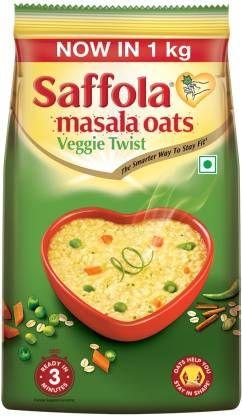 Saffola Veggie Twist Masala Oats (1 kg, Pouch)
