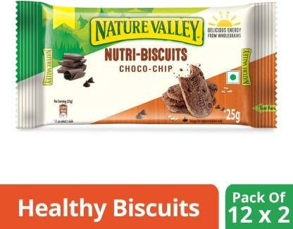 Nature Valley Nutri Biscuits - Choco Chip (600 g, Pack of 24)