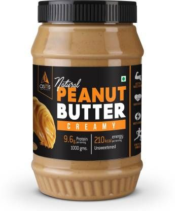 AS-IT-IS Nutrition Peanut Butter Creamy (Natural & Unsweetened) 1 kg