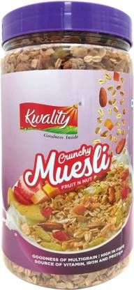 Kwality Crunchy Muesli Fruit N Nut (1 kg, Plastic Bottle)