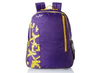 Flat 75% off on Skybags Purple Casual Backpack at Just Rs.499