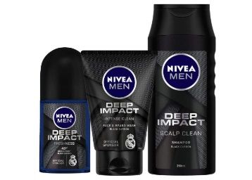 Flat 50% off on Nivea Deep Impact Roll On, 50ml and Face Wash, 100ml with Shampoo, 250ml at Rs.299