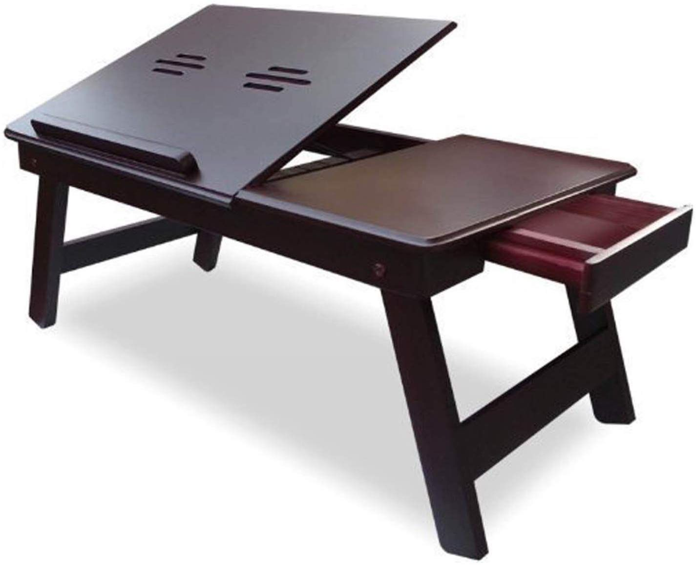 Ebee Brown Laptop Table with Drawer