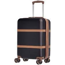 AmazonBasics Vienna Expandable Luggage Spinner Suitcase - 78 cm, Black