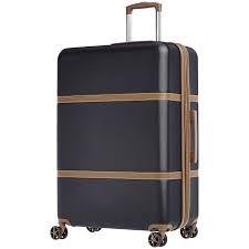 AmazonBasics Vienna Expandable Luggage Spinner Suitcase -68 cm, Black