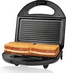 Nova 2 Slice Panini Grill NSG 2440 Toast  (Black)