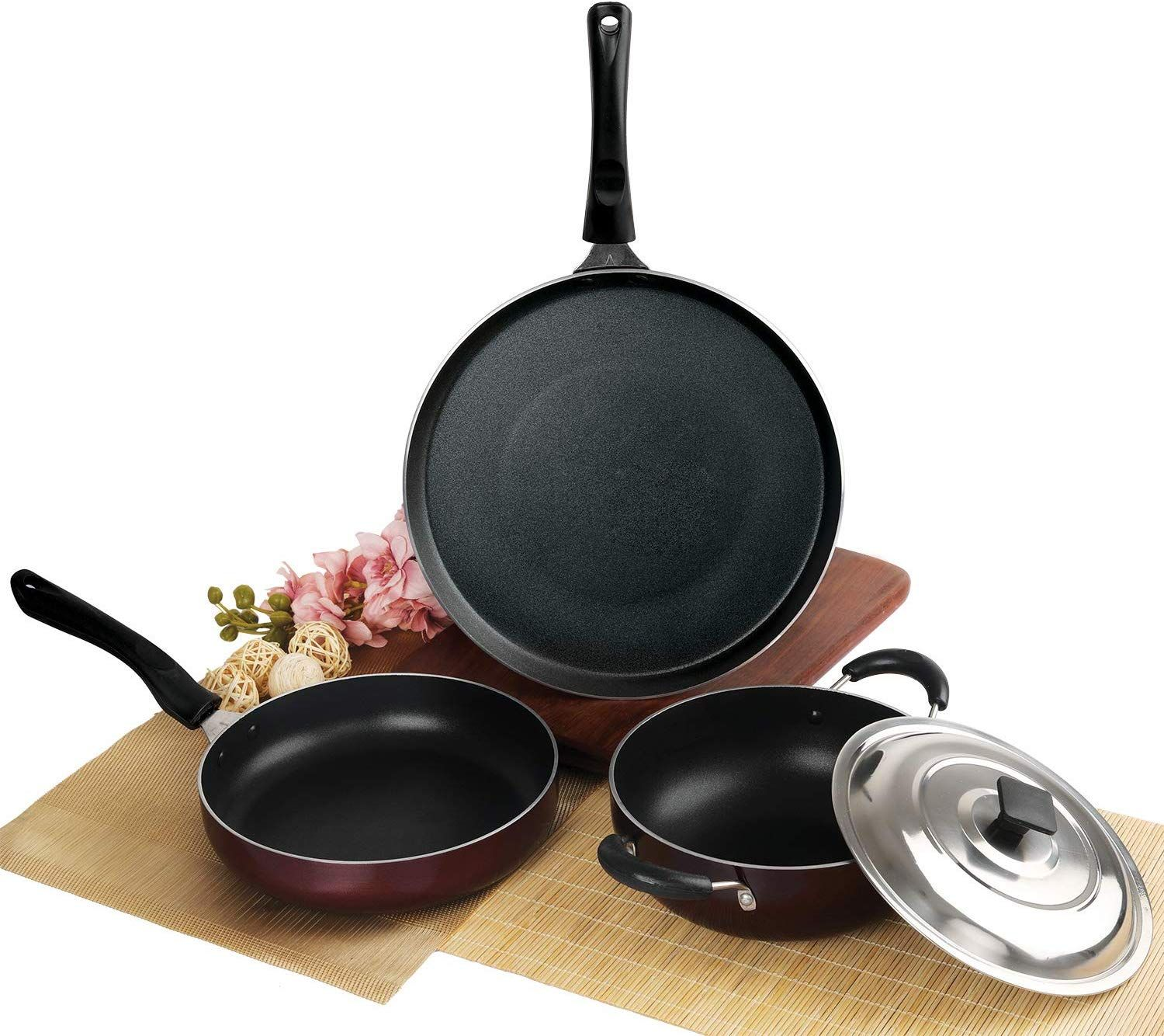 Cello Prima Solitare Series Non Stick 3Pc Cookware Set