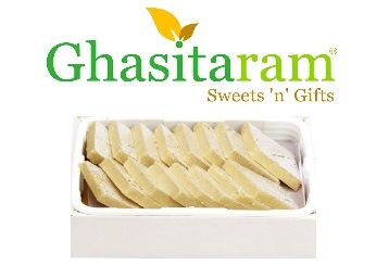 Ghasitaram Gifts Diwali Gifts Pure Kaju Katlis Box, 200g at Rs.276