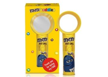 M&M's Portable Bladeless Handheld Toy Fan 24cm Diwali Gift Pack with Milk Chocolate Candies at Rs.499