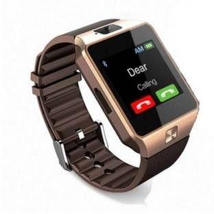 Enew DZ09-GOLD VGT-A7 phone Gold Smartwatch (Brown Strap Free Size)