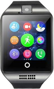 fellkon Q18 - Black - 1 phone Black Smartwatch (Black Strap Free Size)