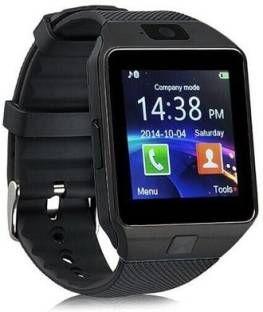 Enew DZ09-BLACK Watchphone Matte Black Smartwatch (Black Strap Free Size)