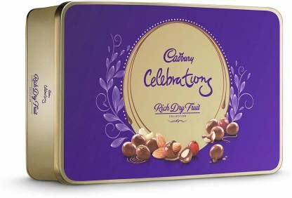 Cadbury Celebrations Rich Dry Fruit Chocolate Gift Box, 177g Brittles (177 g)