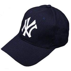 Flat 75% off - Handcuffs Stylish Cotton Baseball Adjustable Navy Blue Cap for Men/Women