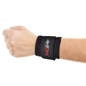 Healthgenie One Size Adjustable Wrist Support - 1 Pair (Black) at Rs. 269