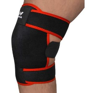 Nivia Adjustable Knee Support (Black) at Rs. 248