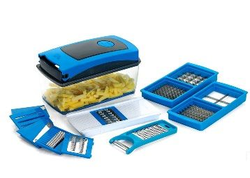 BMS Accura Madind Premium Nicer vegetables and fruits Slicer Chippers and chopper, 1 Piece, Sky Blue