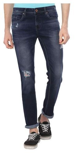 Life by Shoppers Stop Mens 5 Pocket Distressed Jeans at Rs. 900