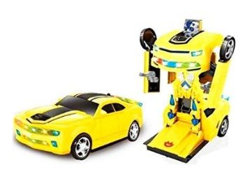 FunBlast Battery Operated Converting Car to Robot, Robot to Car Automatically,Transformer Toy, with Light and Sound for Kids