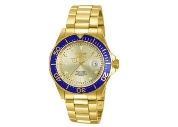 Flat 45% off on Invicta Pro Diver Unisex Wrist Watch Stainless Steel Quartz Gold Dial at Rs. 4849