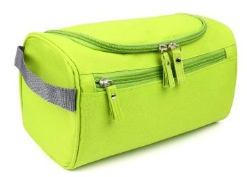 Flat 65% off on House of Quirk Hanging Fabric Travel Toiletry Bag Organizer and Dopp Kit (16 cm x 10.01 cm x 3 cm, Green)