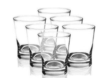 Flat 75% off on Ocean Ethan Glass Set, 266.16ml, Set of 6, Clear at Rs. 419