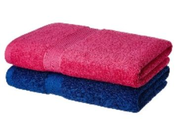 Flat 44% off on Amazon Brand - Solimo 100% Cotton 2 Piece Bath Towel Set, 500 GSM at Rs.699