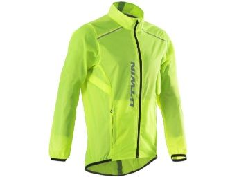 100 Road Cycling Rain Jacket - Neon Yellow at Rs. 799