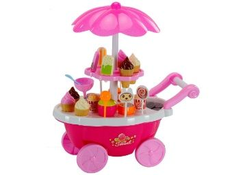 Smartcarft Ice Cream Kitchen Play Cart Kitchen Set Toy with Lights and Music -Small at Rs. 579