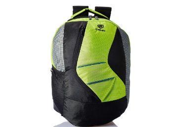 Zwart 20 Ltrs Flourescent Green School Backpack at Rs. 382