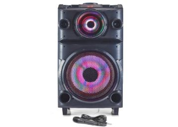 Blaupunkt PS100 Volcano 100 DJ Panel Party Speaker with Battery & Wheels (Black) at Rs. 15990