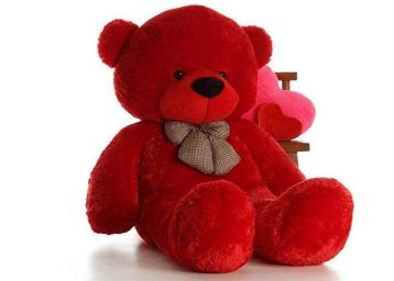 CLICK4DEAL Big Giant Cotton Teddy Life Size Stuffed Bear/Spongy Hugable Cute Cuddles Soft Toy for Kids Birthday Girls Lovable Special Heart Shape Cusion (3 Feet, Red) at Rs. 499