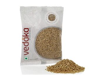 Apply 5% Coupon - Amazon Brand - Vedaka Fenugreek (Methi), 100g at Rs. 11