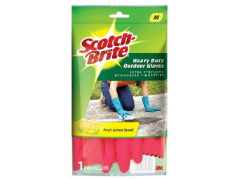 Flat 56% off on Scotch-Brite Heavy Duty Gloves (with Fresh lemon scent & inner cotton lining for comfort) Medium, Red at Rs. 110