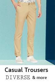 Casual Trousers Under Rs. 599 [ Colt, Cherokee, Diverse & More ]