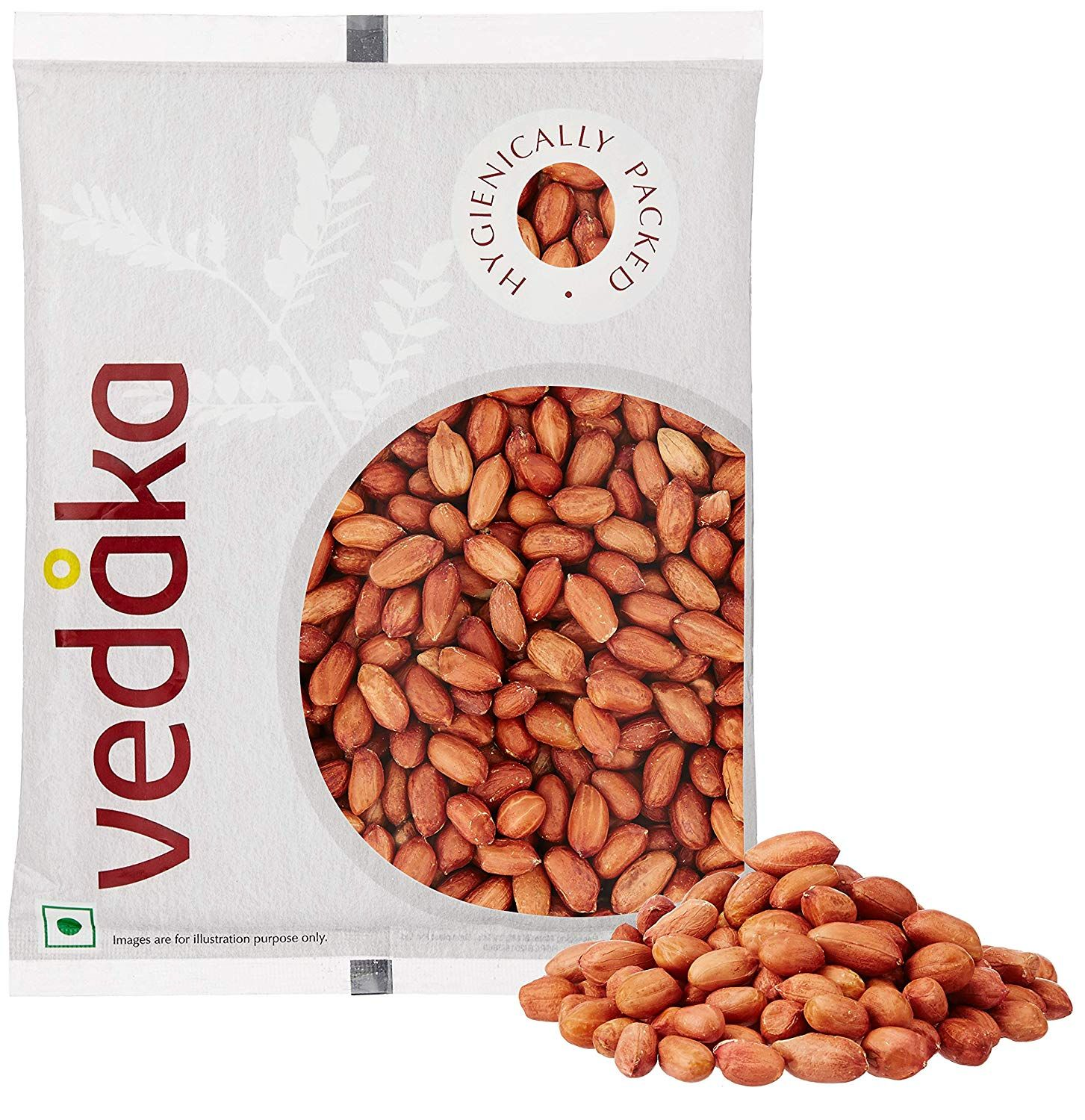 Amazon Brand - Vedaka Raw Peanuts, Red, 500g. at Just Rs. 59 !!