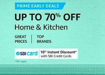 Up to 70% Off On Home & Kitchen Appliances + Bank Offer !!
