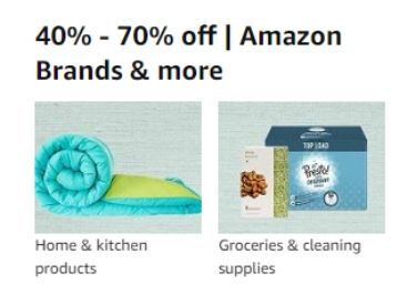 40% - 70% off | Amazon Brands & more + Bank Offers !!