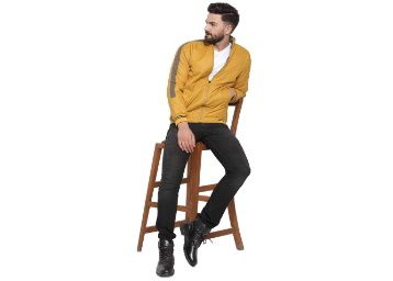 Ben Martin Casual Jacket Stand Collar Zipper Design Regular Jacket at Rs. 839