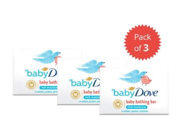Baby Dove Rich Moisture Bar, 75 g (Pack of 3) at Rs. 98