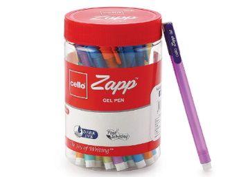 Apply 5% Coupon - Cello Zapp Gel Pens - 25 pens Jar (Blue) at Rs. 133