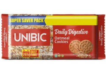Flat 50% off - UNIBIC Oat Meal Cookies, 600 g (4x150g) at Rs. 95