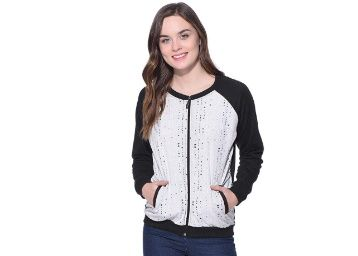 Flat 68% off on Purys Grey Printed Combination Jacket at Rs. 639