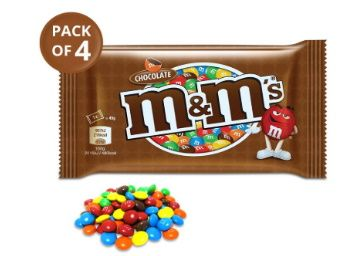 Flat 39% off on M&M's Milk Chocolate Candies, 45g (Pack of 4) at Rs. 184