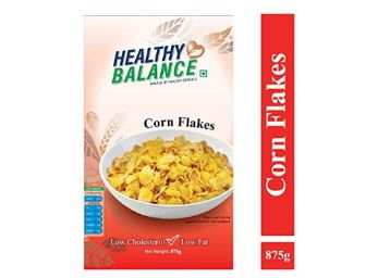 Flat 53% off on Healthy Balance Corn Flakes 875gm at Rs. 191