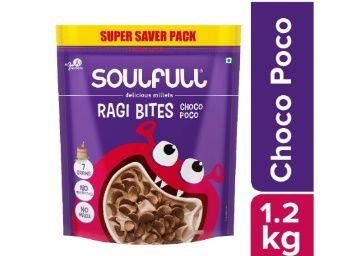 Flat 50% off on Soulfull Ragi Bites- Choco Poco, No Maida- 1.2kg at Rs. 225