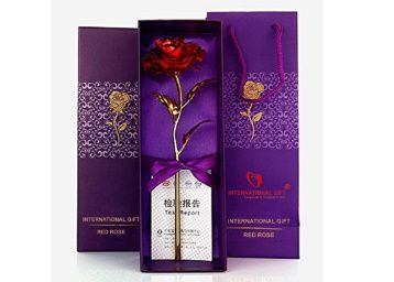 Flat 80% off on International Gift Valentine Gift Red Rose 25 Cm With Beautiful Gift Box And Carry Bag at Rs. 280