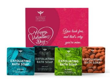 Bombay Shaving Company Exfoliating Bath Soaps Gift Kit for Valentine