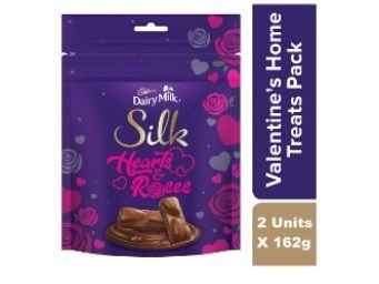 Cadbury Dairy Milk Silk Valentine'S Home Treats, 2 x 162 g At Rs.332