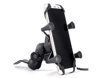 Autofy A-12 X-Grip Bike Mobile Charger & Phone Holder Bike Mobile Holder Version 2 for All Bikes Scooters at Rs. 398